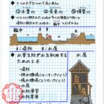 低い土地のくらし自主学習ノート例