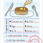 英語で絵日記をかく自主学習ノート例
